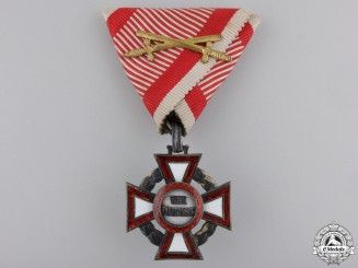 A Military Merit Cross with War Decoration by V.Mayer
