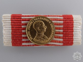 Austria, Imperial. A Miniature Bravery Medal; Gold Grade (1914-1916)