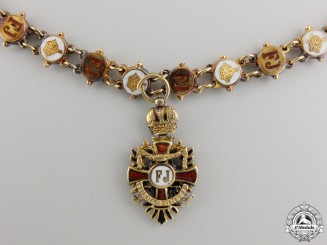 A Miniature Austrian Order of Franz Joseph Cross in18k Gold