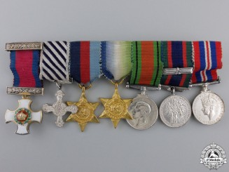 A Miniature Canadian DSO & DFC Medal Bar