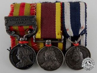 A Miniature China & India Service Medal Group