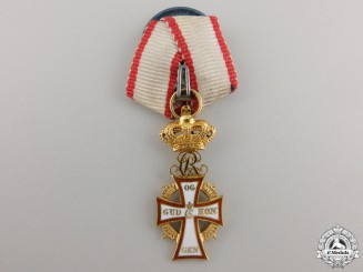 Denmark, Kingdom. An Order of the Dannebrog in Gold, Miniature, c.1930