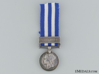 A Miniature 1884-85 Egypt Medal with Nile Clasp