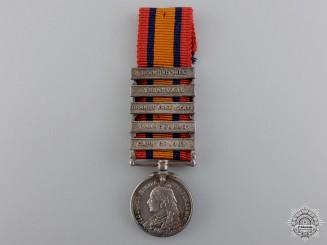 A Miniature Five Bar Queen's South Africa Medal
