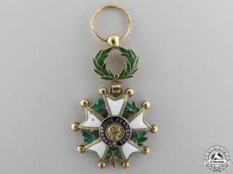 France, IV Republic. A Legion D'Honneur in Gold, Miniature