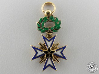 A Miniature French Colonial Order of the Black Star of Benin in Gold