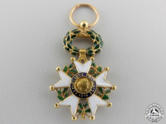 France, III Republic. A Legion D'Honneur in Gold, Miniature