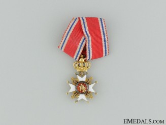 A Miniature Gold Norwegian Order of St.Olav
