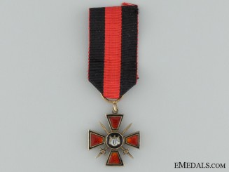 A Miniature Imperial Order of St. Vladimir with Swords