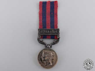 Great Britain. A Miniature India General Service Medal 1854-1895