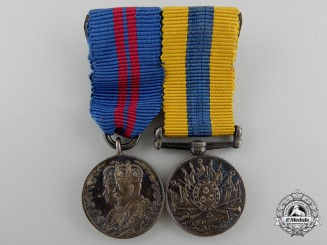 Great Britain. A Miniature Khedive's Sudan Medal Pairing