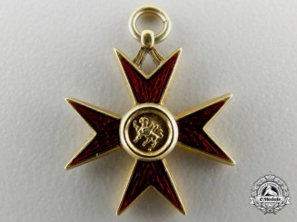 A Miniature Mecklenburg Schwerin Order of the Griffin in Gold