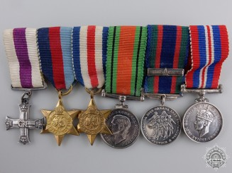 A Miniature Military Cross Group of Six Awards