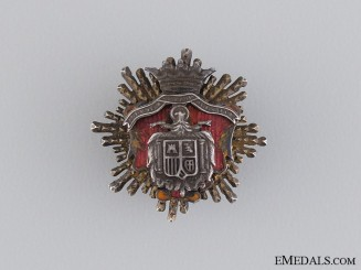 A Miniature Spanish Franco Era Extraordinary Cloister Breast Star