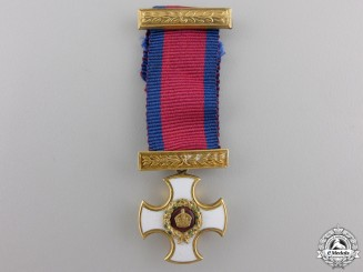 United Kingdom. A Miniature Victorian Distinguished Service Order in Gold