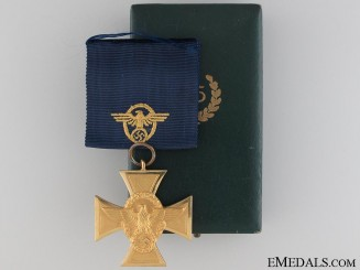 A Mint & Cased Police Long Service Award