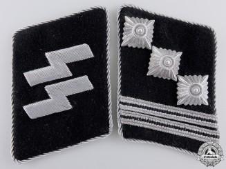 A Mint Hauptsturmführer Collar Tab Pair; RZM Tagged