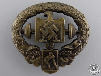A Mint Heavy Athletics Sports Badge