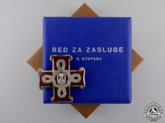 A Mint Second War Croatian Order of Merit; Second Class Cross