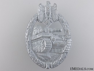 A Mint Silver Grade Tank Badge by Friedrich Linden