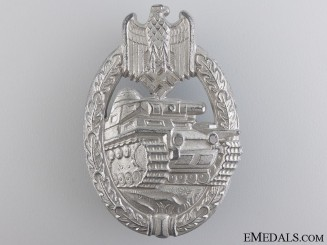 A Mint Tank Badge; Silver Grade