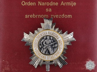 A Mint Yugoslavian Order of the People's Army; 3rd Class