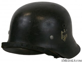 A Model 1942 Army Single Decal Helmet