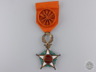 A Morocco, French Protectorate. An Order of Ouissam Alaouite, Officer, c.1945