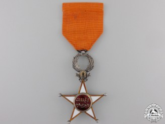 A Moroccan Order of Ouissam Alaouite; Fifth Class