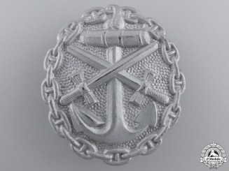 A Naval Wound Badge; Silver Grade