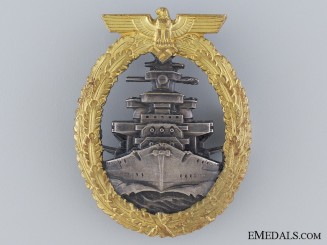 A Near Mint High Seas Fleet Badge by Schwerin