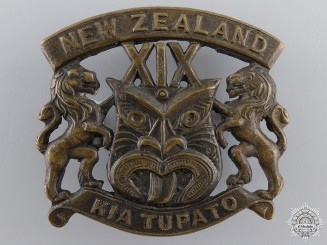 A New Zealand First War 19th Reinforcements Cap Badge