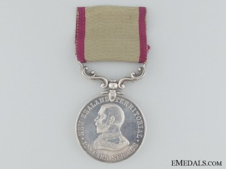 A New Zealand Territorial Service Medal to Hawkes Bay Regiment