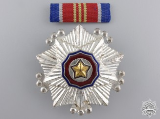 A North Korean Order of the National Flag; 3rd Class