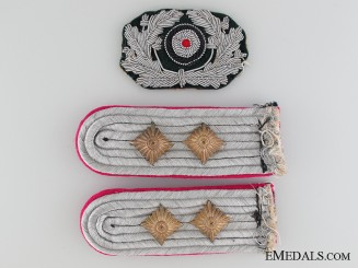 A Pair of Army Shoulder Boards & Cockade