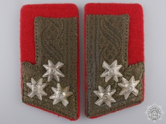 A Pair of Croatian Home Army Collar Tabs; Colonel