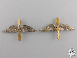 A Pair of German Imperial Shoulder Board Insignia for a Fliegertruppe