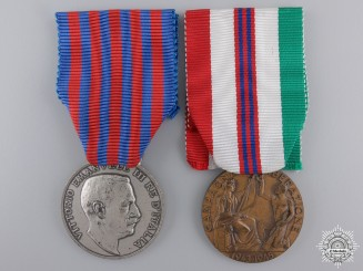 A Pair of Italian Commemorative Medals