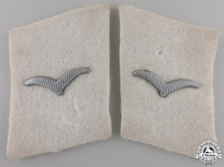A Pair of Luftwaffe Collar Tabs; Division 'Hermann Göring'