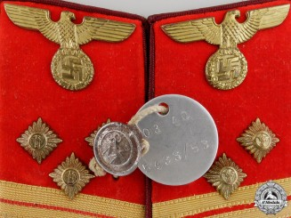 A Pair of Political Leader Collar Tabs; GAU Level