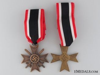 A Pair of Second Class War Merit Crosses