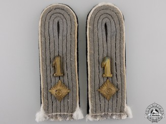 A Pair of SS-Obersturmführer Shoulder Boards