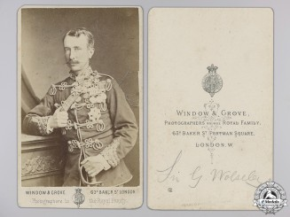 A Period Signed Photograph of Sir Garnet Joseph Wolseley   Consignment #14