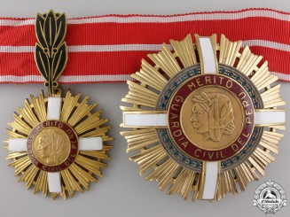 Peru, Republic. A Civil Guard Order of Merit, II Class Grand Officer, c.1950
