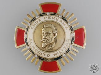 A Peruvian Order of Military Merit; First Class