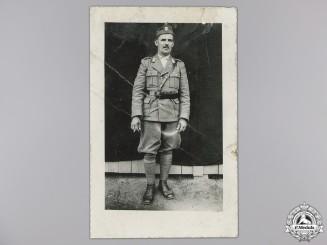 A Photograph of Ustasha Officer Ivan Sabolic