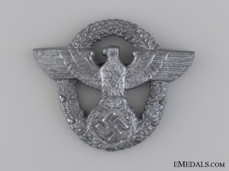 A Police Cap Badge by Friedrich Linden, Lüdenscheid