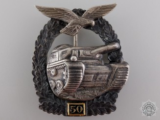 A Post War Luftwaffe Tank Assault Badge; 50 Grade