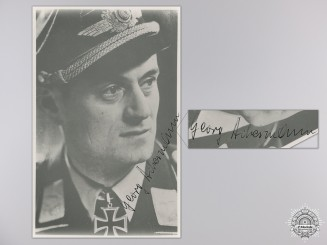 A Post War Signed Photograph of a Knight's Cross Legion Condor Recipient