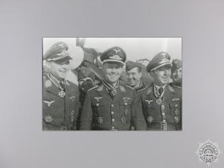 A Post War Signed Photograph of Knight's Cross Recipient; Kaiser